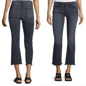 FRAME Le Crop Mini Preston Gray Bootcut Jeans